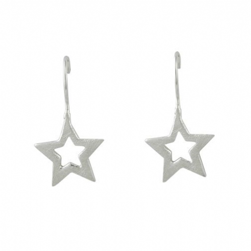 Silver Dangle Star Earring